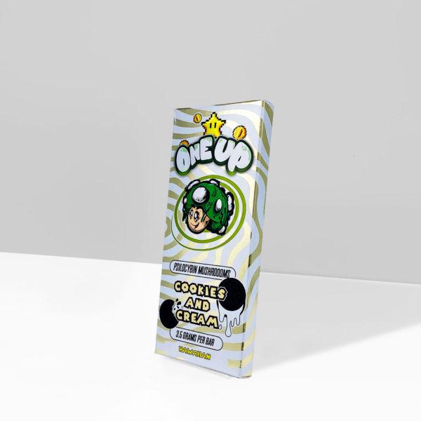 One Up Cookies N Cream Psilocybin Mushroom Chocolate Bar 3.5g